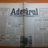 """Ziarul adevarul 13 martie 1990-articolul """" in cautarea linistii """""""