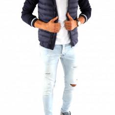 Geaca tip ZARA toamna bleumarin - geaca slim fit - geaca fashion - 6887 - Geaca barbati, Marime: S, M, L, Culoare: Din imagine