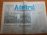ziarul adevarul 10 iunie 1990-articol despe campionatul mondial din italia