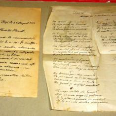 Scrisoare 1950 + poezie 1944 - preot - sibiu - iasi - 2+1 gratis - RBK17555