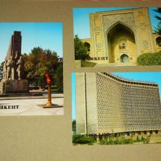 Lot 3 vederi - carti postale - Tashkent - Uzbekistan - 2+1 gratis - RBK17592 - Carte postala tematica, Necirculata, Printata