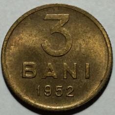3 Bani 1952 Romania UNC, Luciu de batere - Moneda Romania, Cupru-Nichel