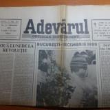 Ziarul adevarul 22 februarie 1990-doua luni de la revolutie, art.despre revolutie