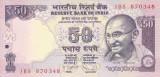 Bancnota India 50 Rupii 2012 - P104a UNC (cu simbol nou pentru rupie)