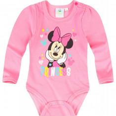 Body cu maneca lunga Disney Minnie roz