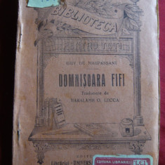 Guy de Maupassant - Domnisoara FIFI - Ed. 1925 BPT519, trad.H.Lecca, Ed.Alcalay - Nuvela