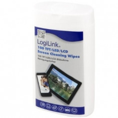 SET CURATARE - servetele umede, 100pcs/box, non-flammable, LOGILINK