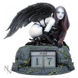 Calendar perpetuu de birou cu înger gotic - Fiica lui Lilith - Tablou canvas