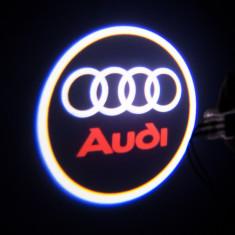 Lumini proiector led holograma logo AUDI usi set 2 buc - Logo Marca