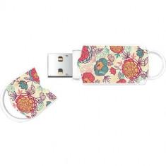 Memorie USB Integral Xpression Floral 2 32GB USB 2.0 White - Stick USB