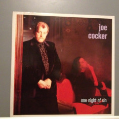 JOE COCKER - ONE NIGHT OF SIN (1989/CAPITOL REC/RFG) - Vinil/Impecabil(NM) - Muzica Pop capitol records