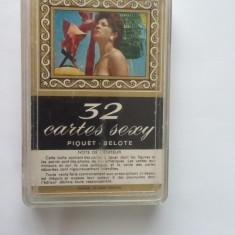 CARTI DE JOC SEXY 32 CARTES SEXY  Piquet - Belote, ANII 70 .STARE FOARTE BUNA .