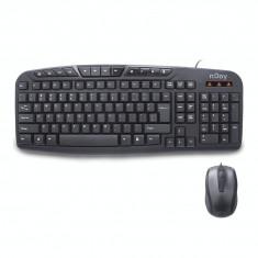 Kit tastatura si mouse nJoy CM120WR Black