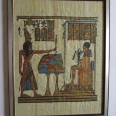 TABLOU-arta egipteana-pictura pe papirus, vintage - Arta din Africa