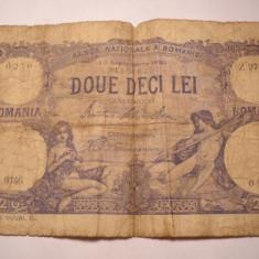 20 lei 1929 - Bancnota romaneasca