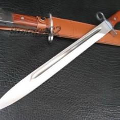 CUTIT. SABIE. BAIONETA AK 47 CCCP. TEACA INCLUSA. MACETA. 50 cm. BAIONETA AK47 - Briceag/Cutit vanatoare, Cutit tactic