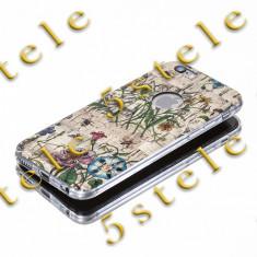 Husa Ultra Slim CAROL Apple iPhone 5/5S Model D3 - Husa Telefon, iPhone 5/5S/SE, Auriu, Silicon