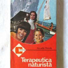 """TERAPEUTICA NATURISTA"", Arkadie Percek, 1987. Colectia CALEIDOSCOP. Carte noua, Alta editura"