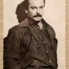 Carte Postala / vedere veche, fotografie reala, actor Georges Brassens, cinema