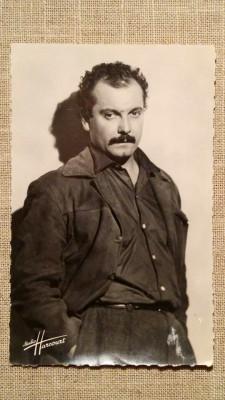 Carte Postala / vedere veche, fotografie reala, actor Georges Brassens, cinema foto