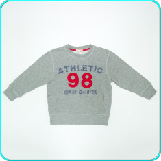 Bluza de trening, groasa, din bumbac, DEBENHAMS → baieti | 4—5 ani | 110 cm, Alta, Gri