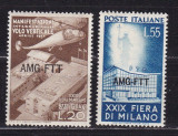 Trieste 1951  aviatie  elicopter  MI 143-144    MNH w37, Nestampilat