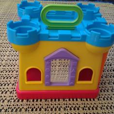 Castel pentru cuburi 20 cm jucarie copii