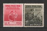 Romania.1950 Lupta ptr. pace  PR.87, Nestampilat