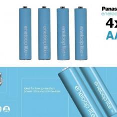 4x AA R6 Baterii Reincarcabile Panasonic Eneloop Lite NK120 - Baterie Aparat foto