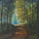 Drum de tara prin padure - semnat  K.A.Boehr