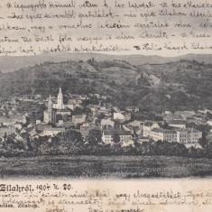 SALUTARI DIN ZALAU, VEDERE GENERALA, CLASICA, CIRCULATA 1904 ED. SERES SAMU - Carte Postala Crisana pana la 1904, Printata