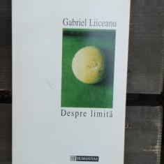DESPRE LIMITA - GABRIEL LIICEANU - Filosofie