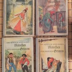 Kinder- und Hausmarchen : mit farbige illustrationen von Karl Fischer 4volume - Carte Basme