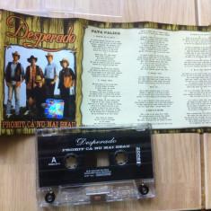 Desperado promit ca nu mai beau caseta audio muzica rock country zone records, Casete audio