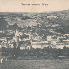 ZALAU, VEDERE GENERALA A ORASULUI, CIRCULATA 1928 - Carte Postala Crisana dupa 1918, Printata