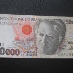 Brazilia . 50000 cruzeiros . ND(1993) VF+ - bancnota america