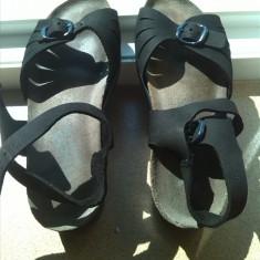 Sandale ara piele naturala marime 37 - Sandale dama Ara, Culoare: Negru