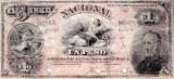 1883 (1 I), 1 peso (P-S676S) - Argentina! (CRC: 100%) SPECIMEN!!!