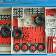JOC Fischertechnik tip Lego - Gemania, anii '80 (INCOMPLET) - Jocuri arta si creatie, 10-14 ani, Baiat