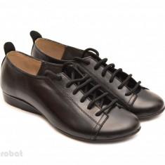 Pantofi dama negri casual-office din piele naturala cod P62 - Made in Romania - Pantof dama, Culoare: Negru, Marime: 35, 36, 37, 38, 39, 40