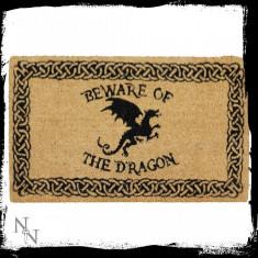Preș ușă intrare Atenție la dragon - Covoras intrare