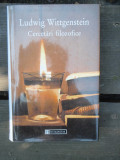 CERCETARI FILOZOFICE - LUDWIG WITTGENSTEIN, Alta editura