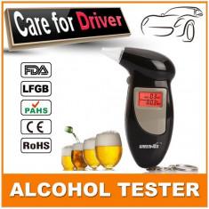 Alcool tester digital negru, 5 rezerve ( mustiucuri ) - AlcoolTest auto