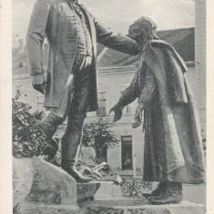 ZALAU - ZILAH, MONUMENTUL LUI WESSELENYI, CIRCULATA 1928 - Carte Postala Crisana dupa 1918, Printata