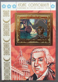 INS. COMORE 1976 - BICENTENAR S.U. A, 1 S/S DANTELATA, NEOBLITERATA  - E4562