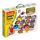 Puzzle Copii Animale Domestice Magnetic Quercetti Cu 2 Fete 12 Animale
