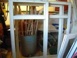 Geam termopan GEALAN din fabrica tenta maronie, L= 153 cm X H=163 cm.