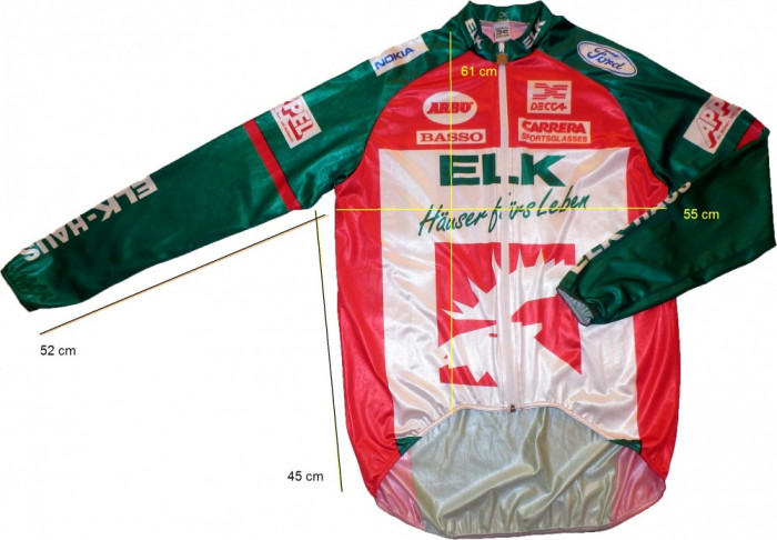 Bluza ciclism DECCA originala, calitativa (L spre M) cod-173762 foto mare