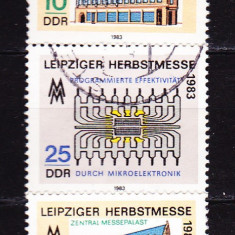 Timbre GERMANIA DDR 1983 = TARGUL DE TOAMNA LEIPZIG - Timbre straine, Stampilat