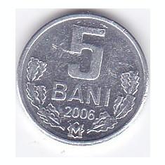 Moneda Moldova 5 Bani 2006 - KM#2 UNC, Europa, Aluminiu